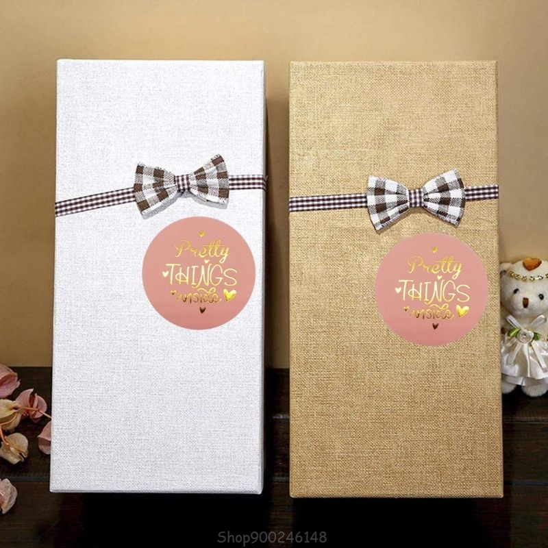 500Pcs Mooie Dingen Binnen Stickers Goud Folie Seal Label Scrapbooking Bruiloft Decoratie S15 20 Dropship
