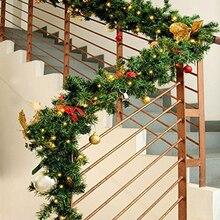 2.7 M noël rotin guirlande décorative vert noël guirlande arbre rotin suspendus pendentif goutte ornement 2020 décoration de la maison