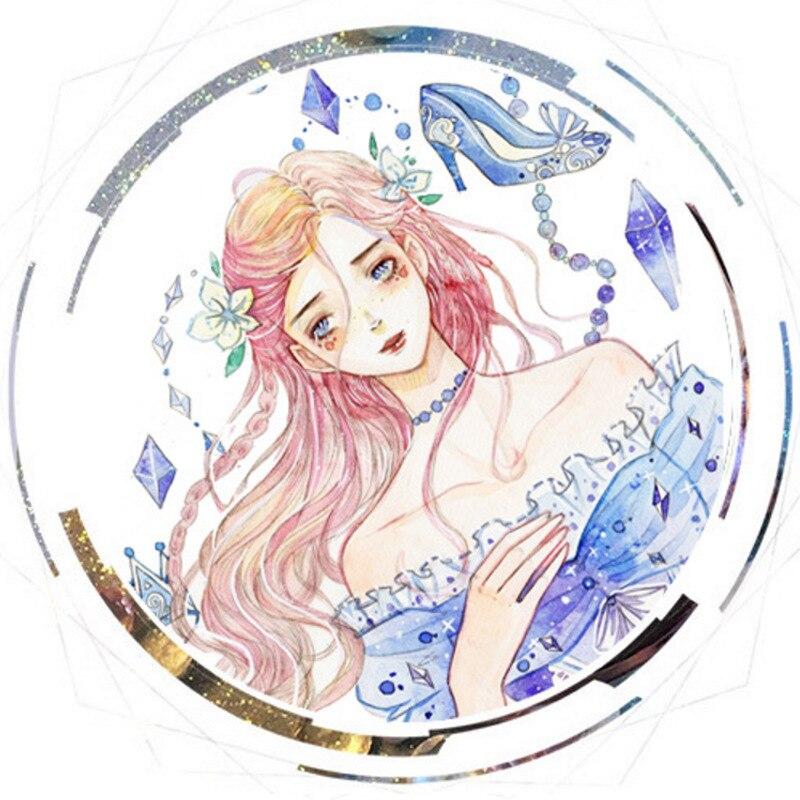 1 pçs diy fitas de papel japonês washi conto de fadas princesa fitas adesivas decorativas fita adesiva adesivos tamanho 7 m