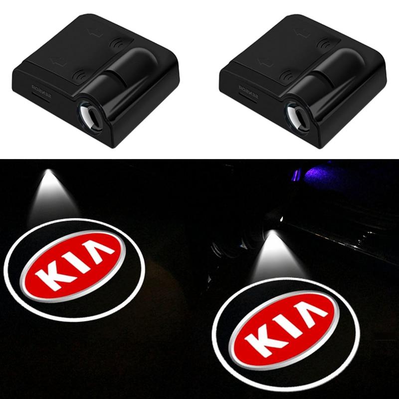 2PCS Wireless Led Car Door Welcome Laser Projector Logo Ghost Shadow Lights FOR KIA K2 K3 K5 k9 Sorento Sportage Rio Accessories