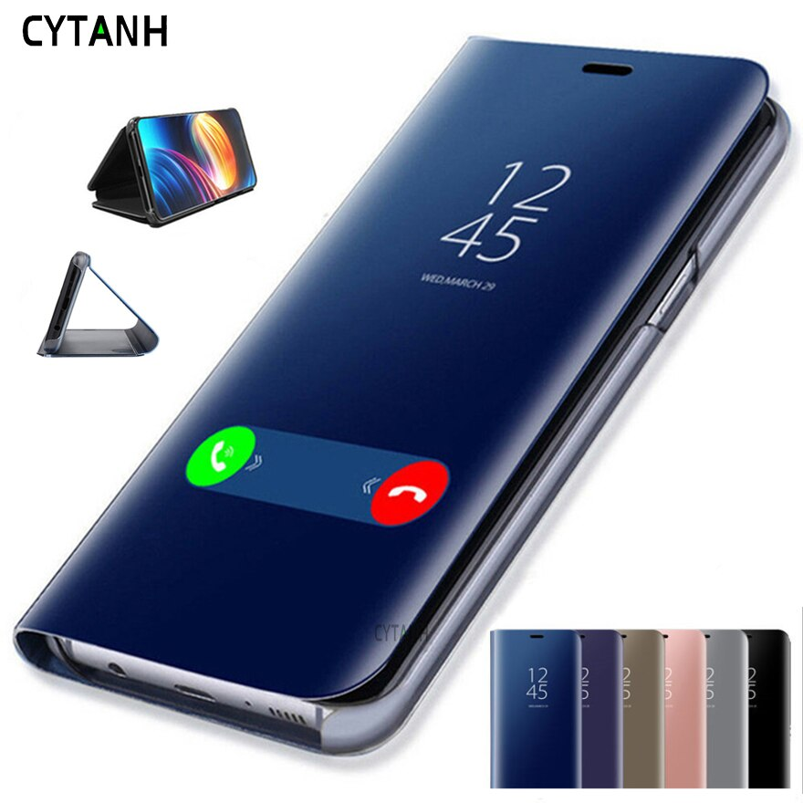 Зеркальный флип-чехол для телефона Prime Clear View Cover 4A 4X 6A 5A для Redmi Note 8 7 6 5 Pro 4 для Xiaomi Mi 9 SE 8 A1 A2 Lite 5X 6X