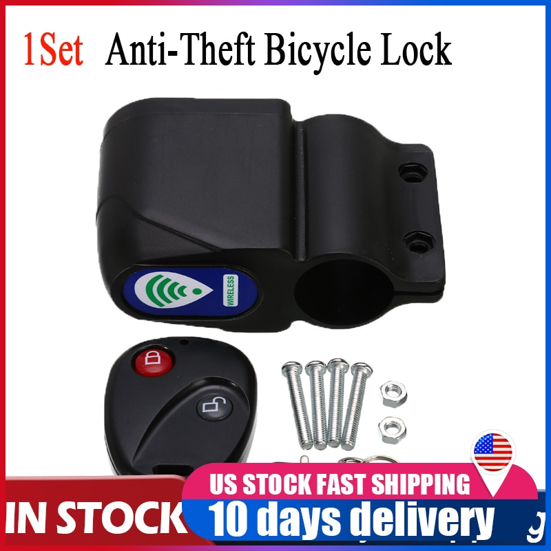 Candado de seguridad para ciclismo antirrobo, candado de seguridad para ciclismo con vibración inalámbrica  105dB, candado de alarma Universal para bicicleta