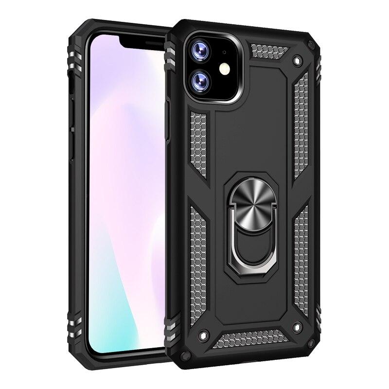 Anel armadura à prova de choque, capa com suporte para celular, capa para iphone 11 pro xs max x xr 7 8 6 6s 5 s se 5S capa para iphone xs iphone iphone 5 5se