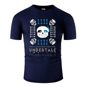 Новое поступление, футболка Sans Bad Time, Мужская футболка с круглым вырезом, Мужская футболка большого размера, S-5xl, с надписью, хип-хоп Топ