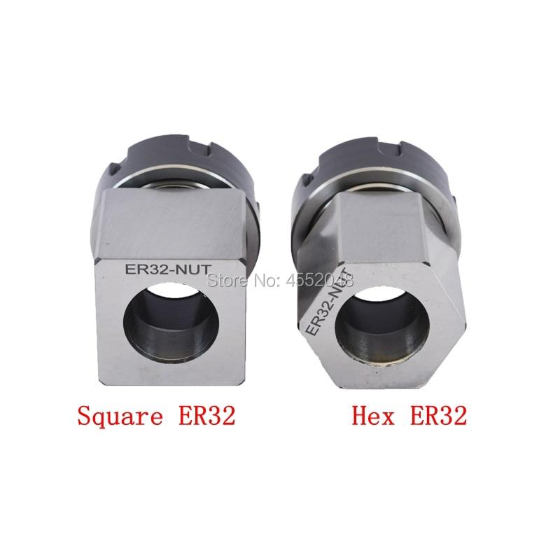 1PCS ER40 ER32 ER25 Square Collet Chuck Holder Mayitr Block For Lathe Engraving Machine Spring Chuck Collet Holder Hex ER32 ER40