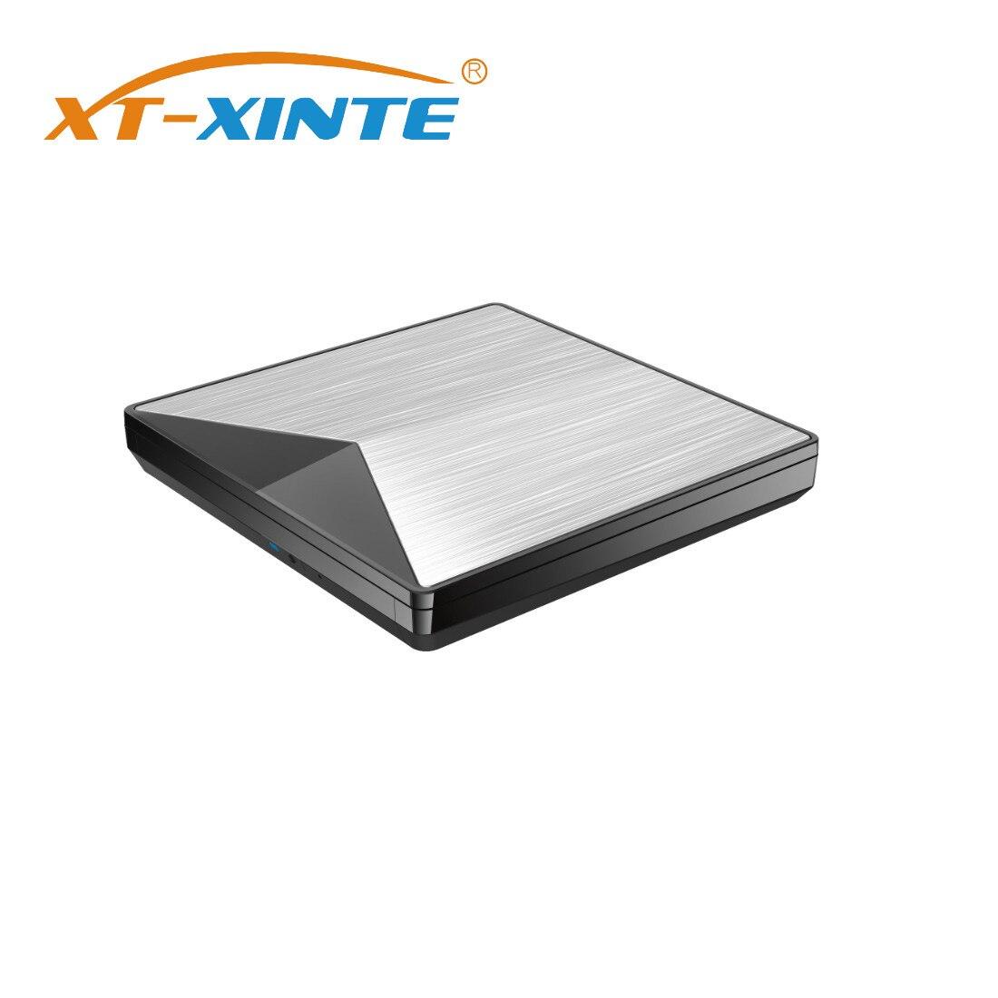 XT-XINTE USB 3,0 CD DVD Drive Externe DVD Optisches Laufwerk für Laptop Desktop Tragbare Schlank CD DVD RW Brenner Player schriftsteller Reader