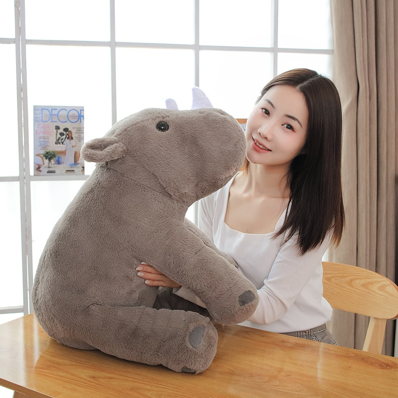 1pc 40/60cm Soft Lovely Rhinoceros Plush Pillow Kawaii Stuffed Animal Plush Toys for Children Baby Appease Doll Kids Girls Gift  - buy with discount