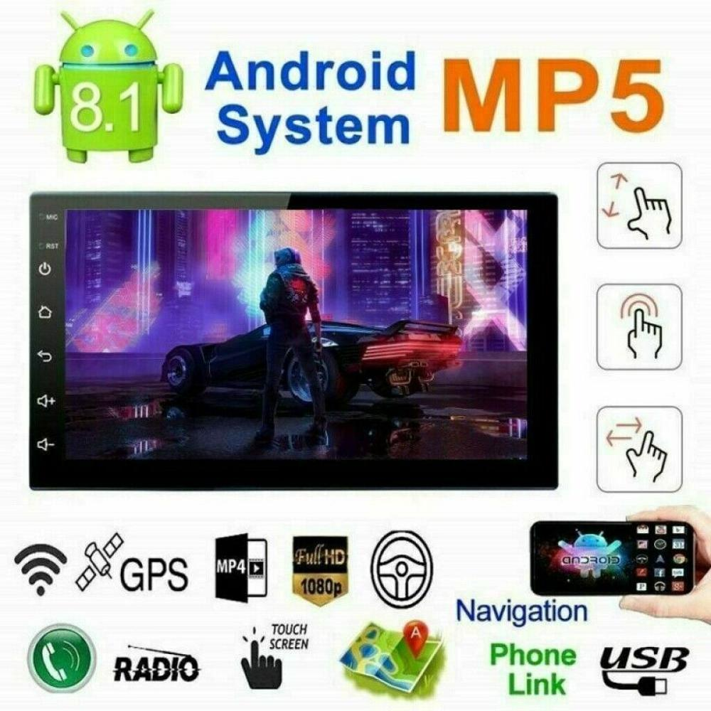 Kit multimídia automotivo android 9217, 2 din, bluetooth, mp5 player 12v, navegação gps, máquina integrada, mp5 player, android 8.1, som estéreo