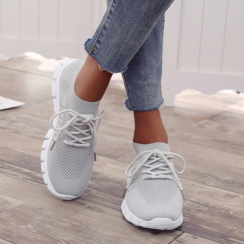 Woman Sneakers Breathable Light Women's Footwear 2021 Vulcanized Shoes Lace Up Comfort Flats Walking Shoes Casual Female summer women snake platform sneakers lace up female pu glitter star shoes flats vulcanized shoes fashion woman walking footwear