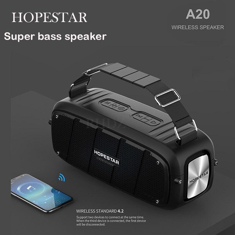 HOPESTAR-A20 Bluetooth altavoces 55W ESTÉREO CON Supergraves subwoofer reproductor de música sistema de sonido boombox con correa FM Radio Aux TF USB