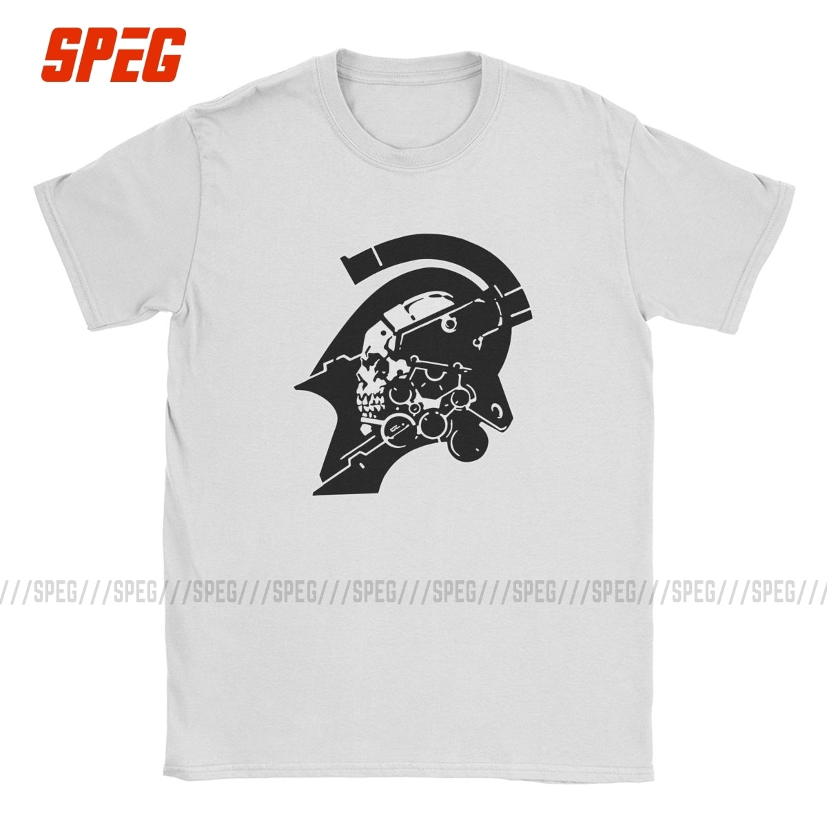 Metal Gear Kojima Mens T-Shirt Printed Crewneck T Shirts Short-Sleeved T-Shirts Cotton Tees Clothing Plus Size