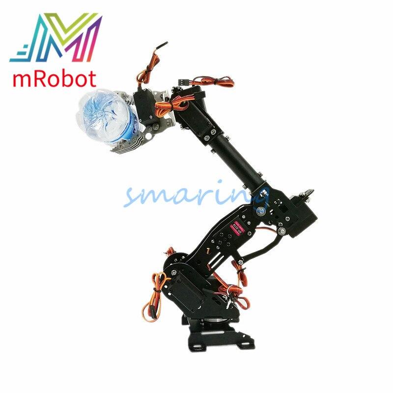 Brazo de maquinaria de Metal de 8 DOF para Robot Industrial ABB modelo de Base giratoria de 360 ° + 8 Uds Servo educación