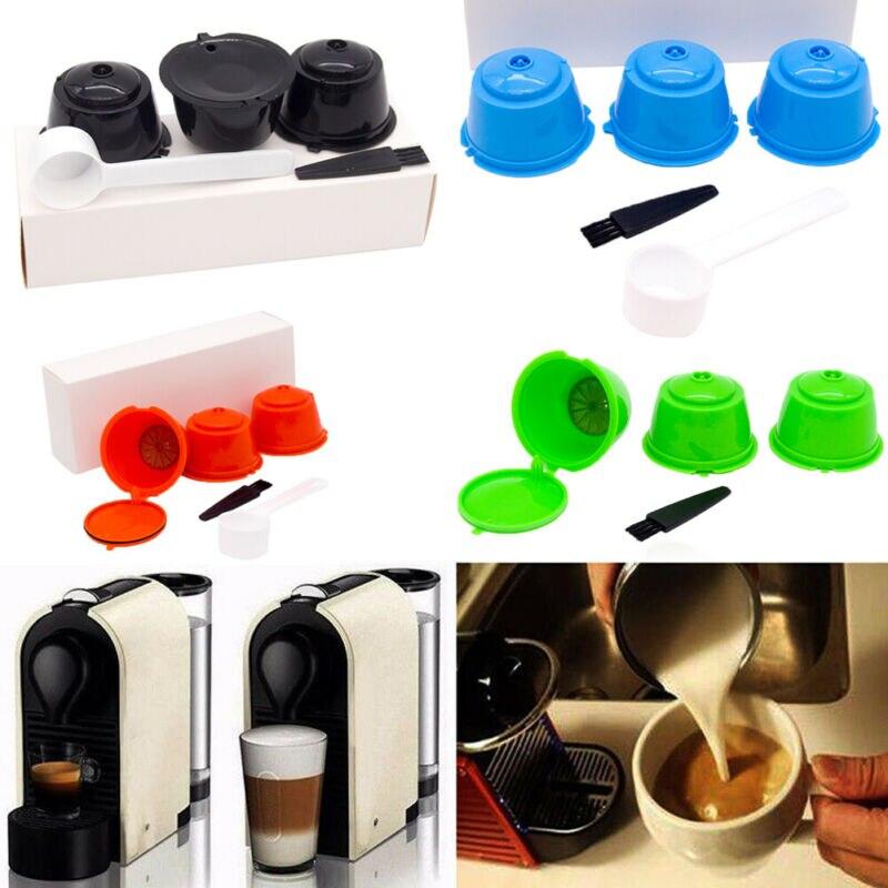 Faroot nueva llegada 3 uds 30ml taza Cápsula de café recargable para Dolce Gusto Nescafe juego de filtros reutilizables