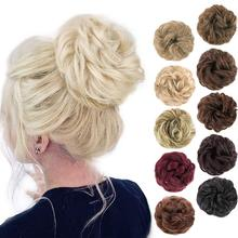 Tinashe Beauty Elastic Band With Hair Messy Bun Scrunchie Chignon With Elastic Band Messi Hairpieces