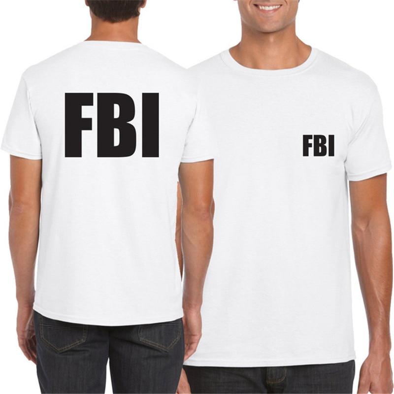 Camiseta del FBL, agente del FBL, Buró de investigación, camiseta del FBL, camisa de la policía del agente, seguridad, SWAT, FBL, Camiseta de algodón militar