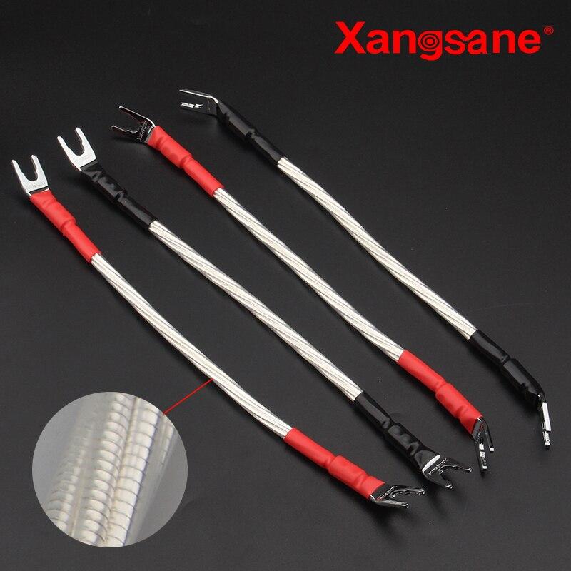 Cinta musical Xangsane, cable de puente de altavoz plateado Odín, cable de la máquina, línea de sonido de altavoz y-y/B-Y/B-B
