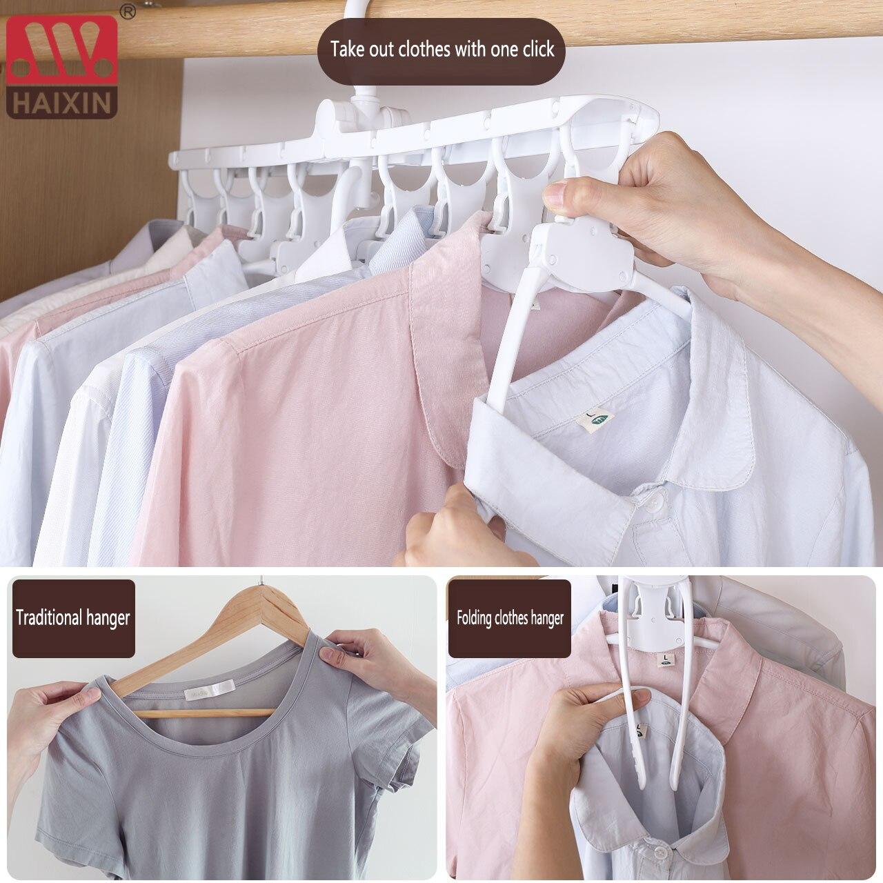 Волшебная вешалка для одежды с 8 отверстиями, многофункциональная складная вешалка, вращающаяся вешалка для одежды, гардеробный аксессуар, ...