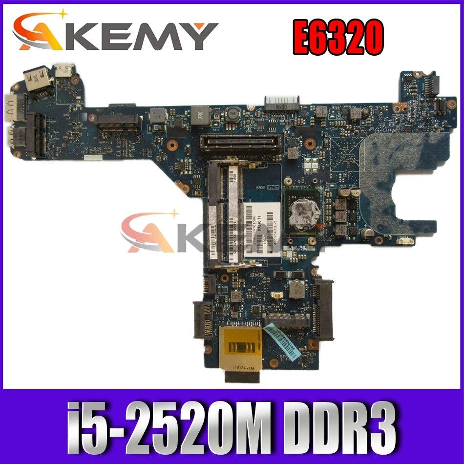 Akemy 0GD76D GD76D TXVMX 0TXVMX LA-6611P لديل خط العرض E6320 اللوحة الأم للكمبيوتر المحمول i5-2520M DDR3 اختبارها G45F1 0G45F1