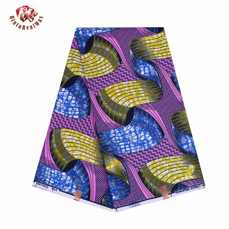 African Wax Prints Fabric new Bintarealwax 2021 Ankara Bazin High Quality 6 yards  African Fabric for Party Dress FP6079