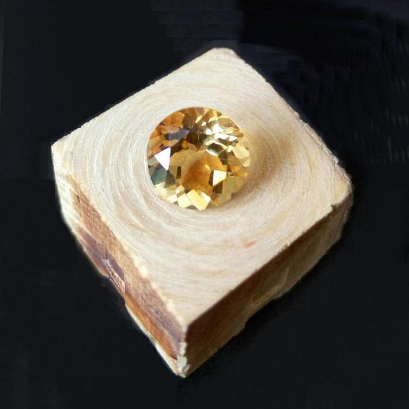 Precio al por mayor 100% piedra preciosa suelta de citrina Natural 8mm brillante redondo corte citrino amarillo piedra preciosa
