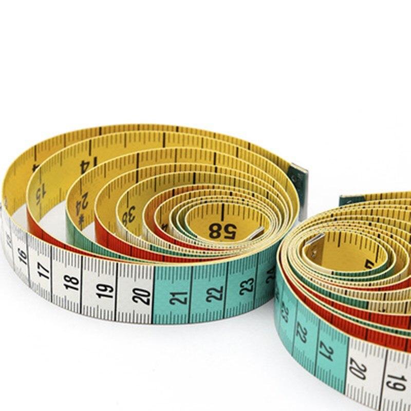 Regla de medición corporal de 1,5 m, cinta métrica de costura a medida, Mini regla plana suave, centímetro, cinta métrica de costura, carpintería