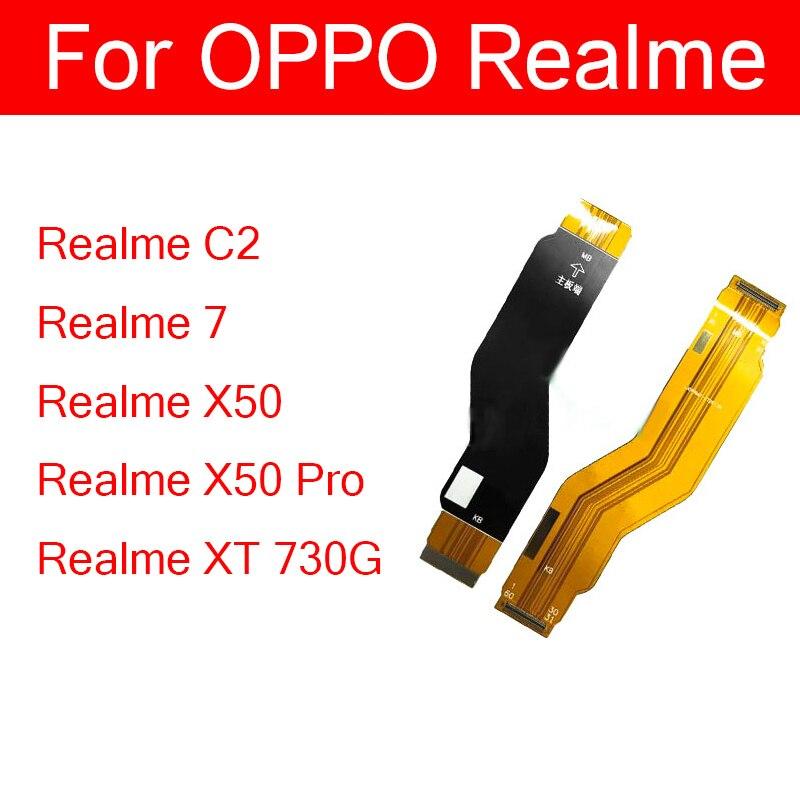 Cabo flexível mainboard para oppo realme c2 7 x50 pro xt 730g lcd placa principal placa mãe flex fita peças