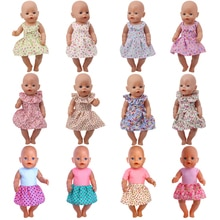 Doll Clothes 15 Colorful Dress With Bow Tie Fit 18 Inch American&43 Cm Baby New Born Doll Zaps Gener