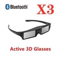 Lunettes actives 3D RF Bluetooth  3 pieces lot  pour projecteur Home cinema Epson ELPGS03  SUMSAMG SONY TV