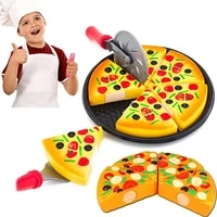 6 pcs small pizza toy child kitchen simulation pizza party fast food play food toy for kids simulation kitchen toy