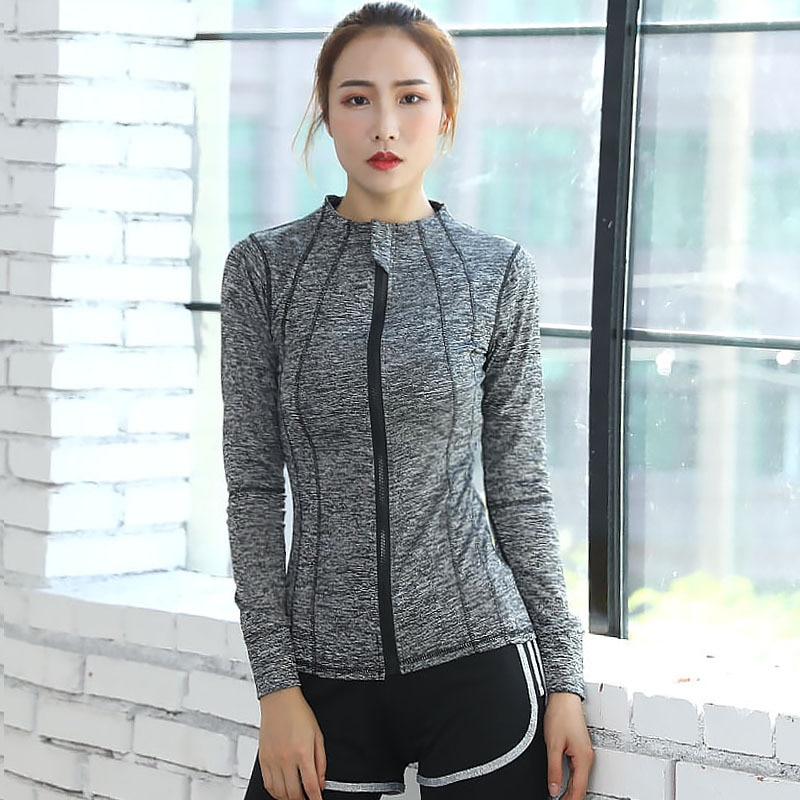 MRMT 2019 marca de las mujeres de manga larga Camiseta con cremallera de secado rápido de manga larga Camiseta para mujeres camisetas Sudadera con capucha