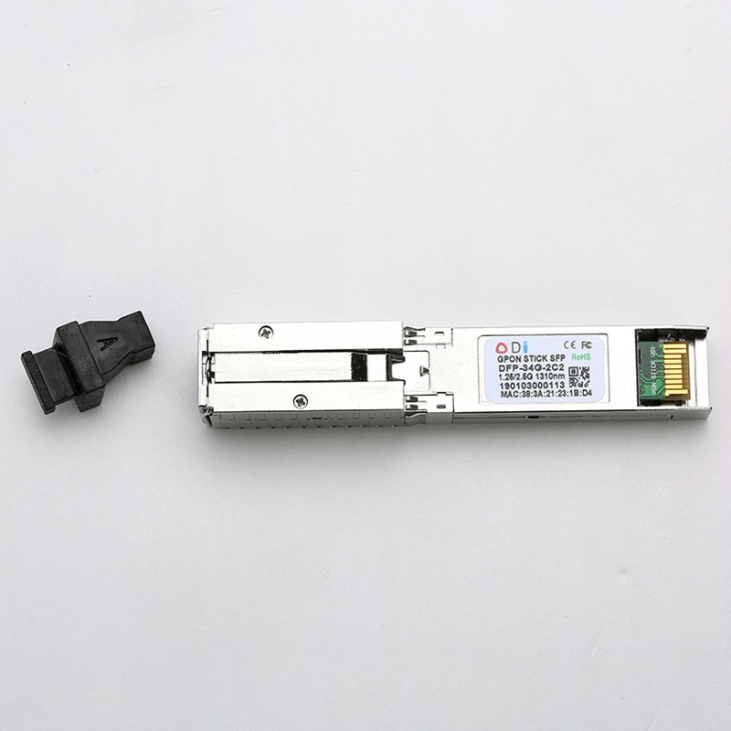 GPON 2.5G SFP ONU Tx 1310/1490nm 20km SC Transceiver stick With MAC DDM pon module SC Connector for OLT switch for HUAWEI/ Cisco