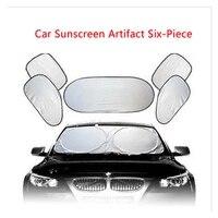 car window sunshade summer car sun block car sun shade silver coated 6 piece set sun front sun visor