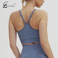 Women fitness bra Bralette Tops solid Tight Push Up Bra Strap Running Shockproof Bras For Women