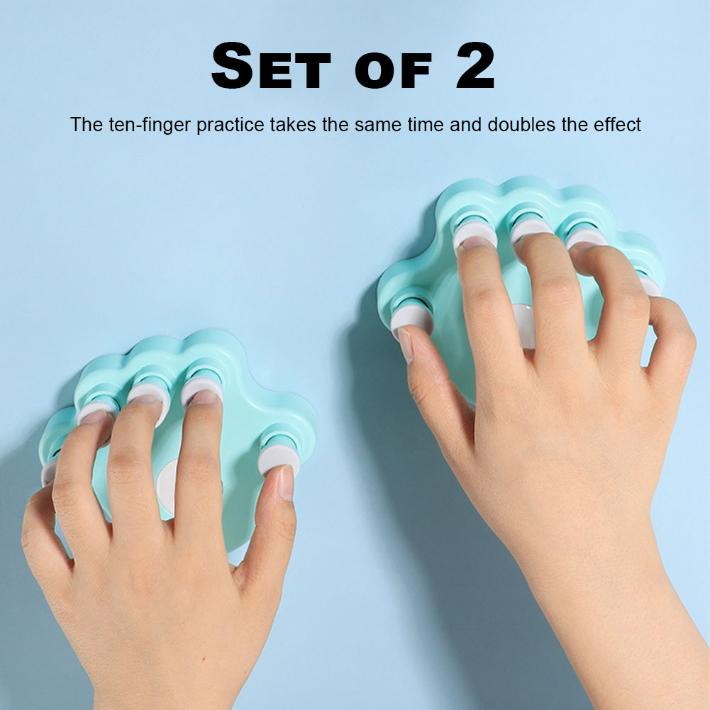 1 Pair of Piano Finger Trainer with 5 Round Keys for Grip Stringed Instrument Accessories Fingers Grips Exerciser Trainer enlarge