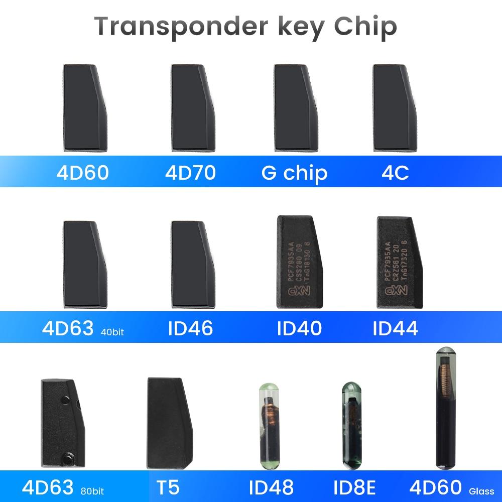 KEYYOU coche clave sin grabar Chip 4D ID40 ID44 ID46 ID63 40Bits/80bits ID48 ID60 de ID70 ID8E T5 4C G Chip accesorio Auto