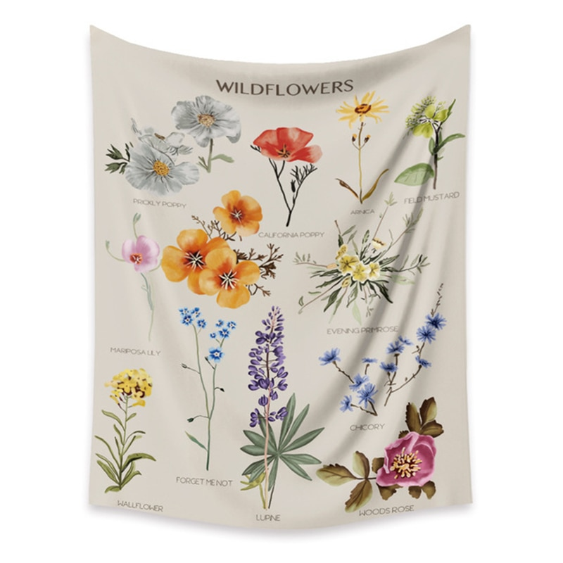 Узор в виде цветов, богемный гобелен настенный цифровые печатные гобелены пляжные Полотенца шаль пледы лист домашнего декора комнаты