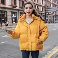 new 6 colors hooded loose y2k parkas winter women bubble quilted coat thick warm korean puffer jacket female casual overcoat