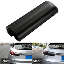 Автомобильный светильник 30x100 см, налобный светильник, тонированная виниловая пленка, матовая черная Автомобильная наклейка, лист, противотуманный светильник, задний фонарь, матовая дымовая пленка для защиты от солнца