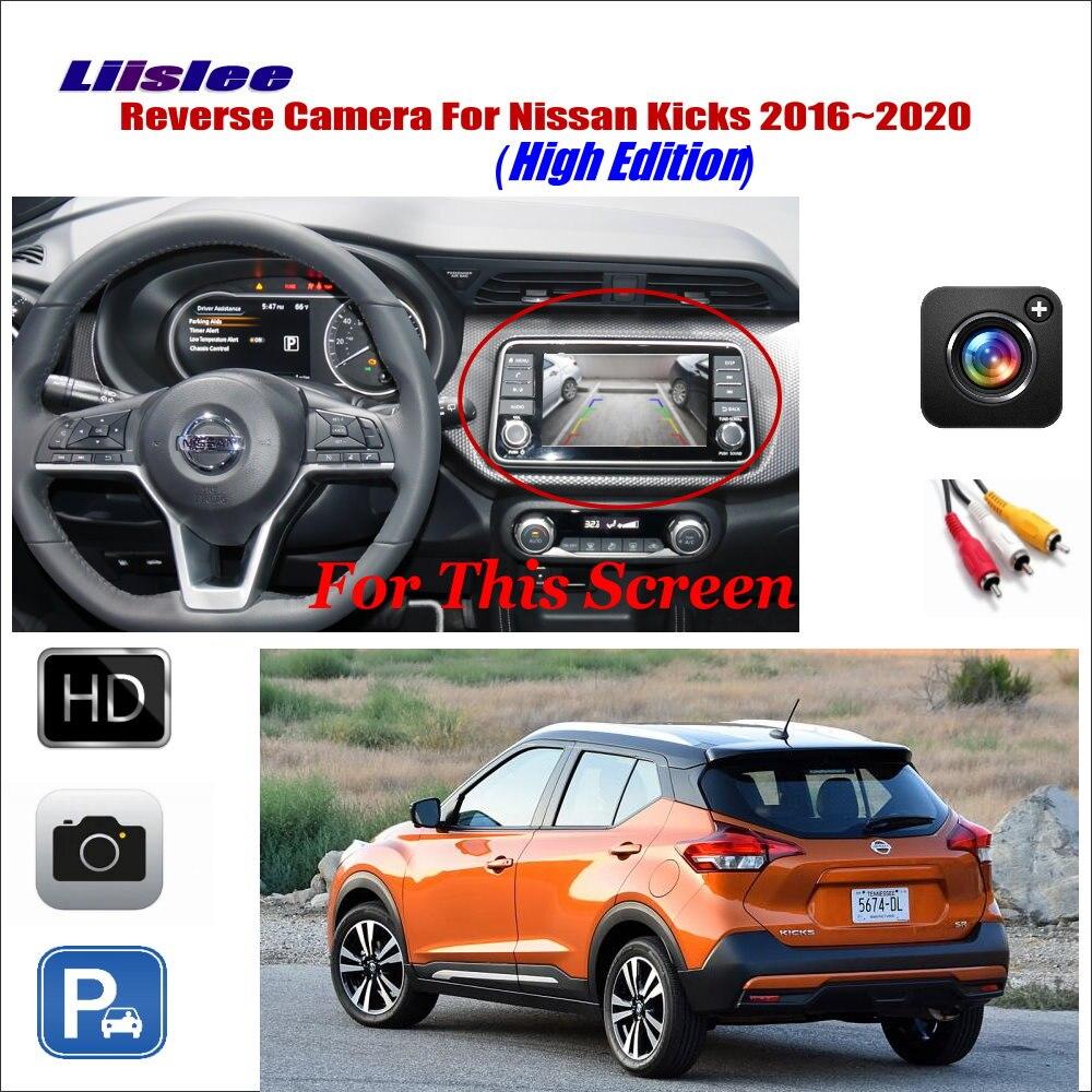 Cámara de Vista trasera de marcha atrás de coche para Nissan Kicks edición baja 2016 ~ 2020 Compatible con Monitor Original aparcamiento cámara de respaldo ter