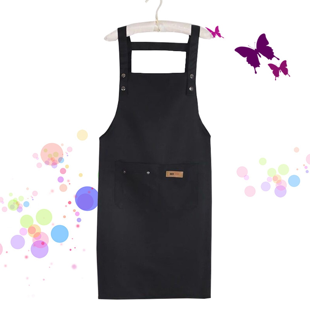Fashion Christmas Brief Adult Apron Bib Aprons Coffee Shop Working Apron With Big Pocket Kitchen Baking Cooking Accessories enlarge