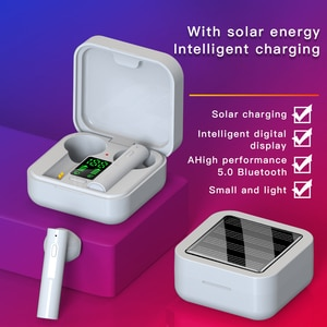 2020 New Tws earphone AIR6 Plus Noise Cancelling Wireless Bluetooth 5.0 Air6 pro Solar charging mini Earbuds Earphones headset
