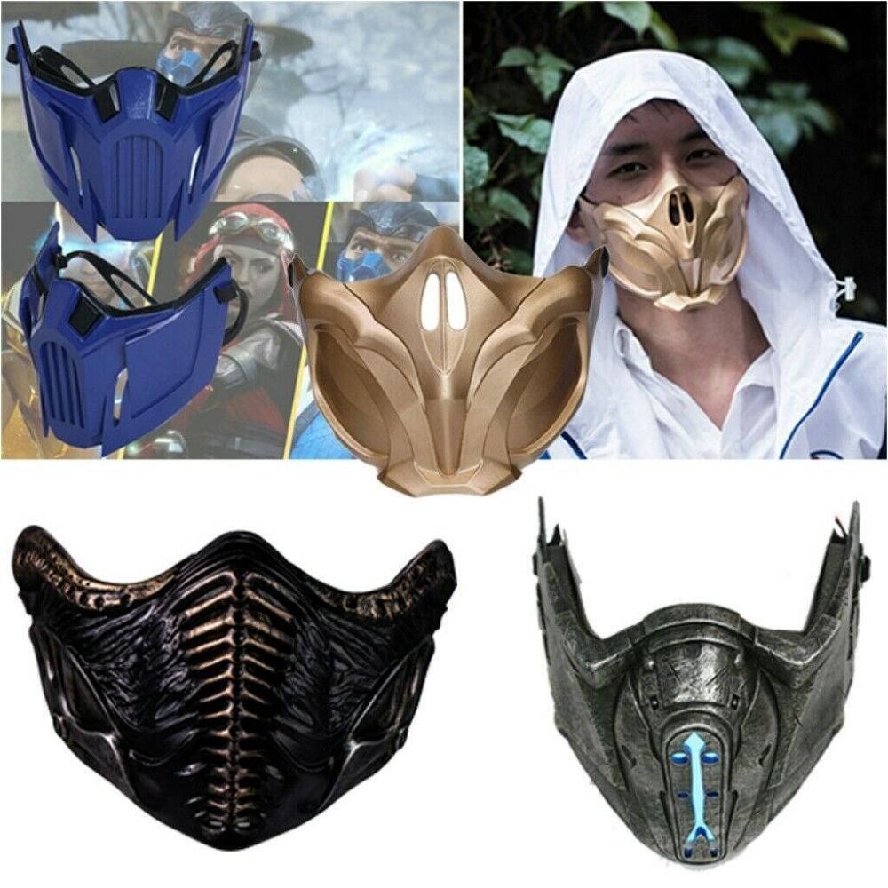 Coslive Mortal Kombat 11 Sub-Zero Mask Full Head Resin Helmet Cosplay Costumes Props Game MK11 Replica Adults