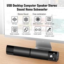V-117 USB Desktop Computer Lautsprecher Stereo Sound Home Subwoofer Mini Lautsprecher mit 3,5mm o Stecker für DVD TV PC laptop