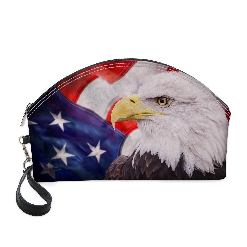 WHEREISART América ave nacional de bolso cosmético Para hacer bolsa maleta maquillaje...