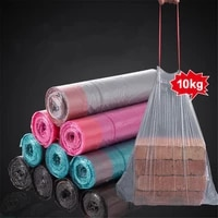 household garbage bags disposable drawstring closing portable thickened large garbage plastic bag kitchen tools
