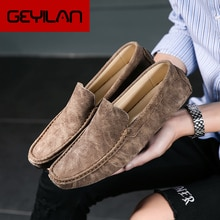 Luxury Brand Men Loafers Men's Casual Shoes Leather Boat Shoes Mocassin Masculino Man Sneakers Male