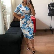 HAOOHU Women Dress Formal Slim Tunic Pencil Dress Short Sleeve Knee-Length Bodycon Dress Business Office Lady Professional