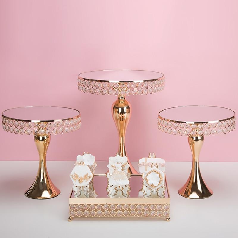 1 шт., золотые антикварные круглые подставки для кексов