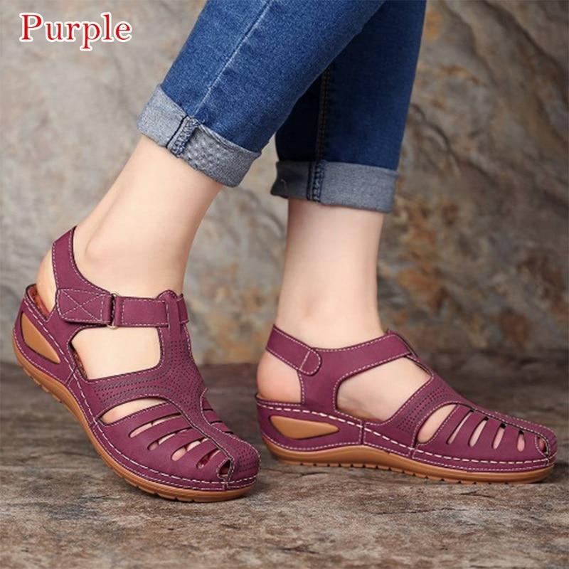 Women Sandals 2021 New Summer Shoes Woman Soft Bottom Wedges For Platform Heels Gladiator Sandalias Mujer