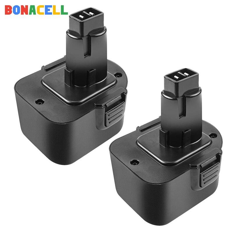 Bonacell 2.0Ah 2Pc Ni-Mh DC9071 batterie recargable para Dewalt DW9072 DW9071 DC9071 DE9037 DE9071 DE9072 DE9074 DE9075 152250- 27